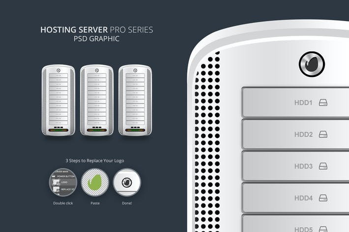 Hosting Server Pro Series WHITE Single PSD