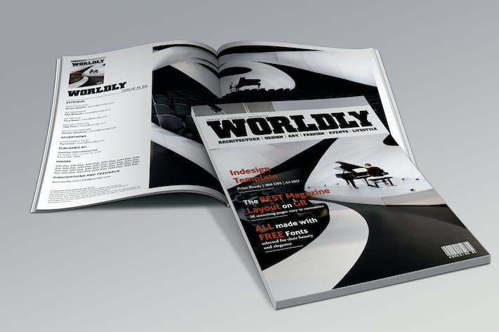 Wordly Magazine Indesign Template by andre28 on Envato Elements