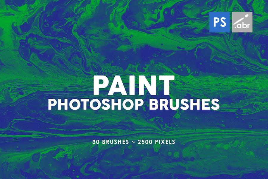 30 Paint Texture Photoshop Brushes Vol. 1