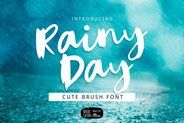 Thumbnail for Rainy Day Brush Font