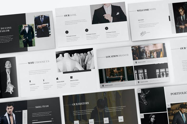 Thumbnail for Lexi Tailor Powerpoint Template
