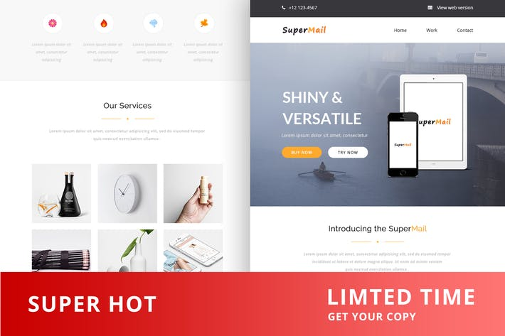 Thumbnail for Responsive Email + Online Template Builder - Super