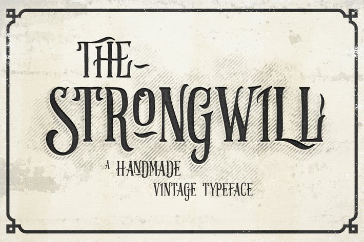 Thumbnail for Strongwill Typeface