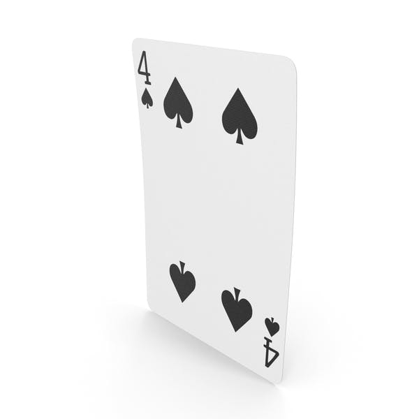 Playing Cards 4 of Spades