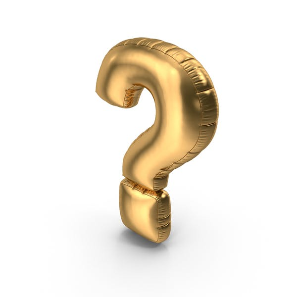 Thumbnail for Foil Balloon Question Mark Gold