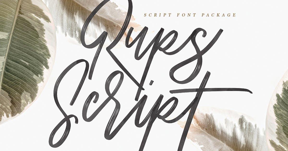 Download Rups Script Brush Font by maulanacreative