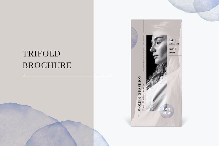 Thumbnail for Trifold fashion brochure