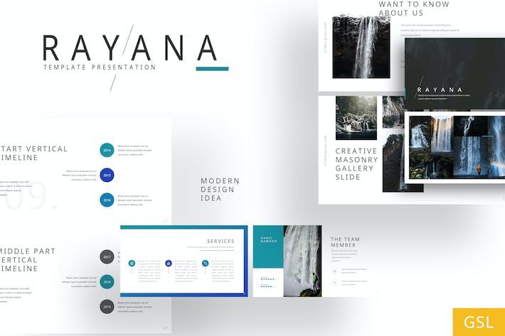Thumbnail for Rayana - Галерея Google Слайды Шаблон