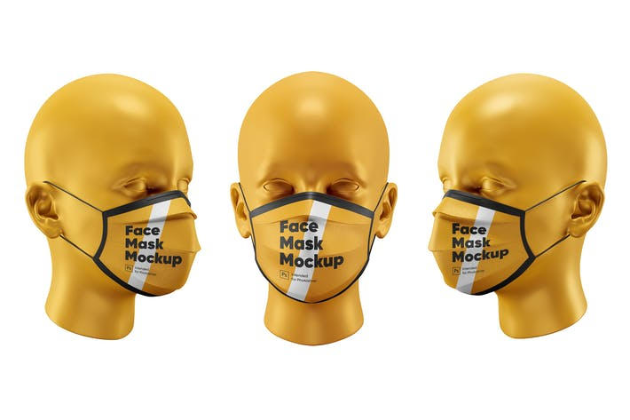 Thumbnail for Face Mask Mockups Set