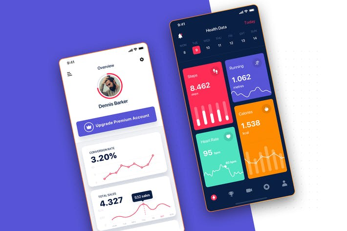 Thumbnail for Data Analysis Statistics UI Mobile App