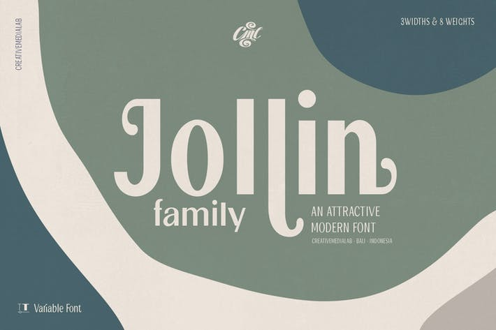 Thumbnail for Jollin Family - Variable Font