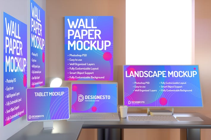 Thumbnail for Working Desk – Mockup Template
