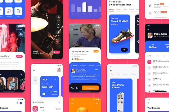 Thumbnail for BARIUM - Multipurpose Card-based_ADOBE XD