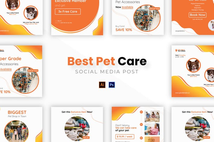Thumbnail for Лучший уход за домашними животными Socmed Post