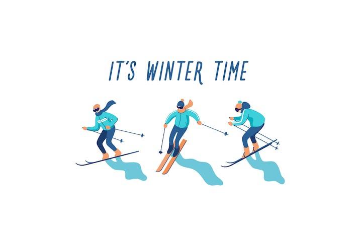 Thumbnail for Skiers on Mountain