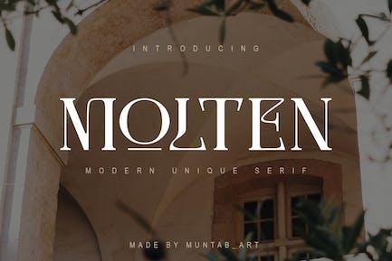 Molten | Modern Con serifa