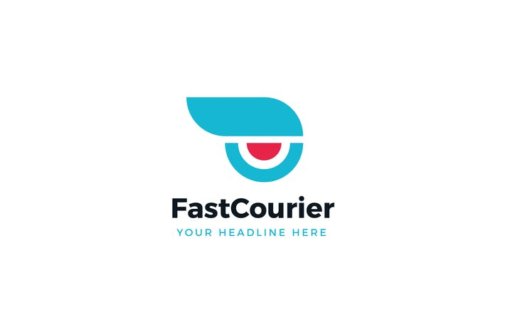 Cover Image For Fast Courier Logo Template