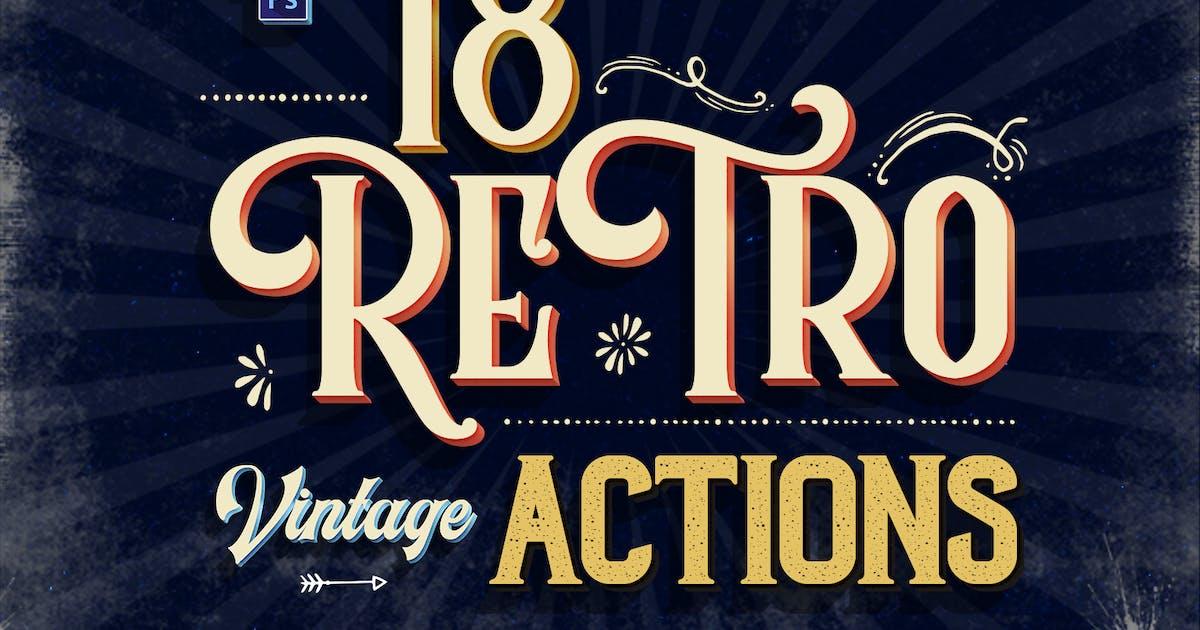 Vintage Text Photoshop Action by Sko4 on Envato Elements