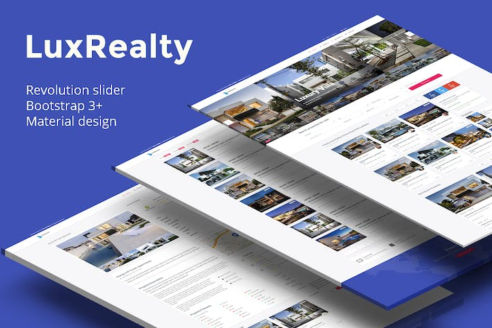 Thumbnail for Lux Realty - Real Estate,Property Material Design