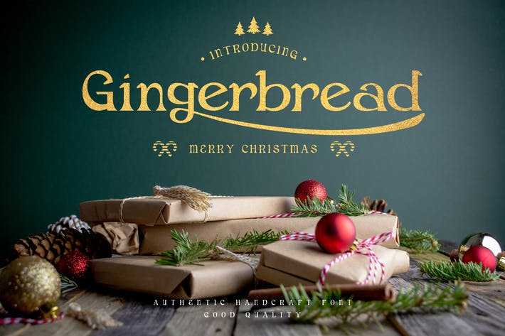 Thumbnail for Gingerbread - Decorative Christmas Serif Font