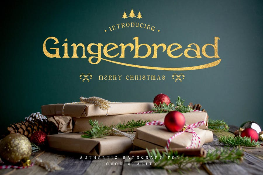 Pan de jengibre - Fuente decorativa de Navidad Con serifa