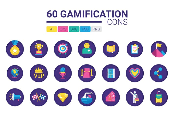 Thumbnail for 60 Gamification Icons