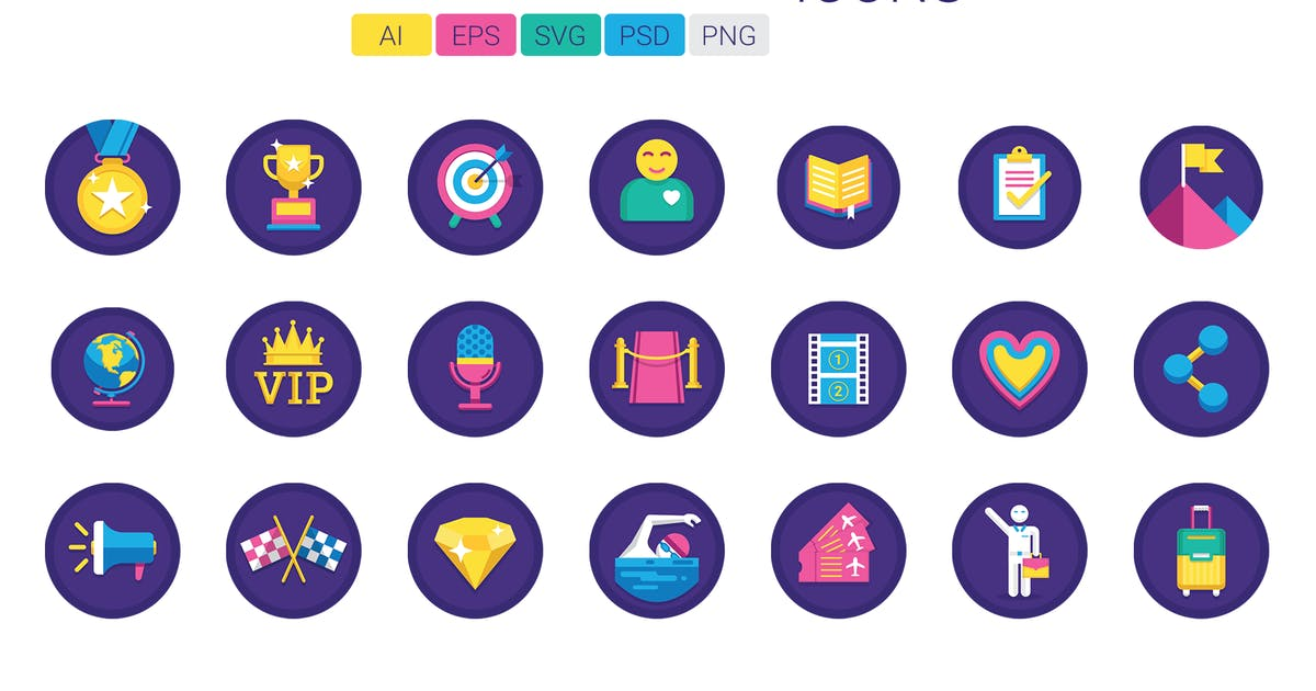 60 Gamification Icons by Krafted
