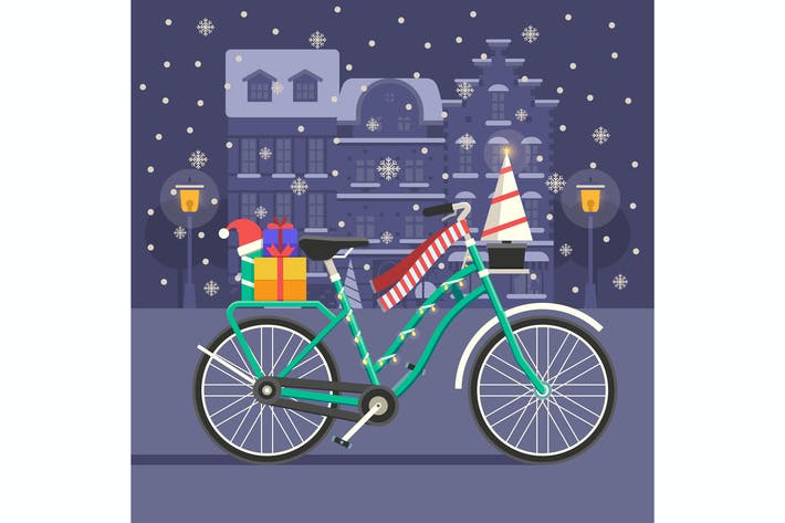 Thumbnail for Christmas Bike Festive Scene