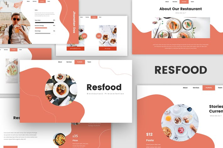 Resfood - Restaurant Keynote Template