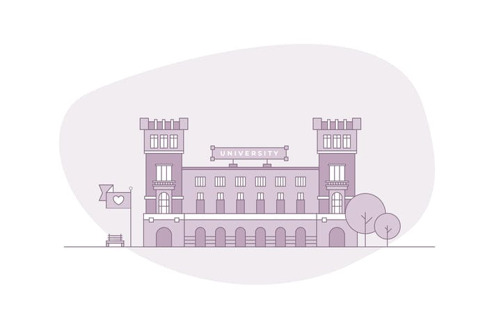 Thumbnail for Cityscape - University Building Vectors