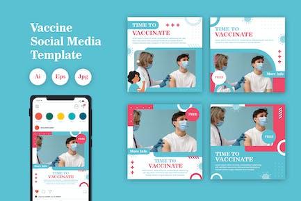 Vaccine Social Media Template Vol. 01