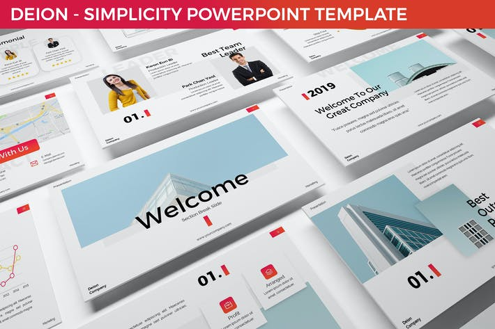 Thumbnail for Deion - Simplicity Powerpoint Template