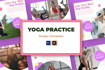 Yoga Practice Social Media Template