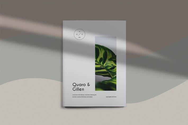 Thumbnail for Quaro &  Gillen - Botanical Brochure Template