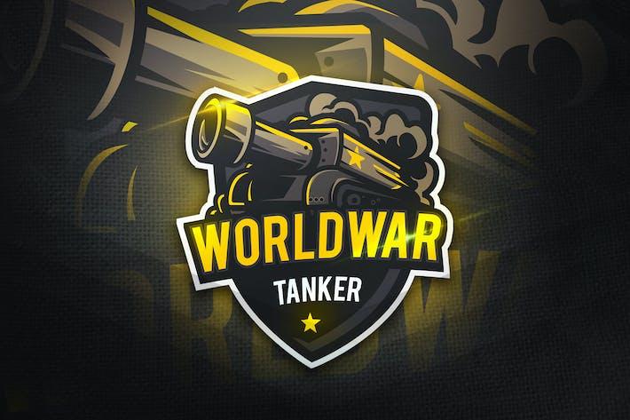 Thumbnail for WorldWar Tanker- Mascot & Esport Logo