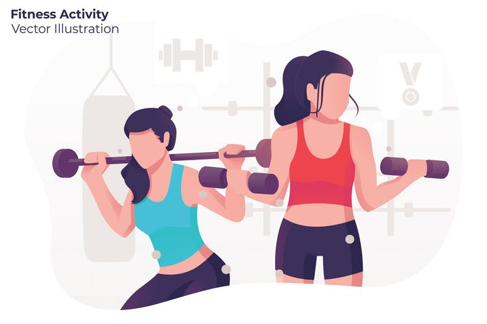 Thumbnail for Fitness Activity - Vector Illustration