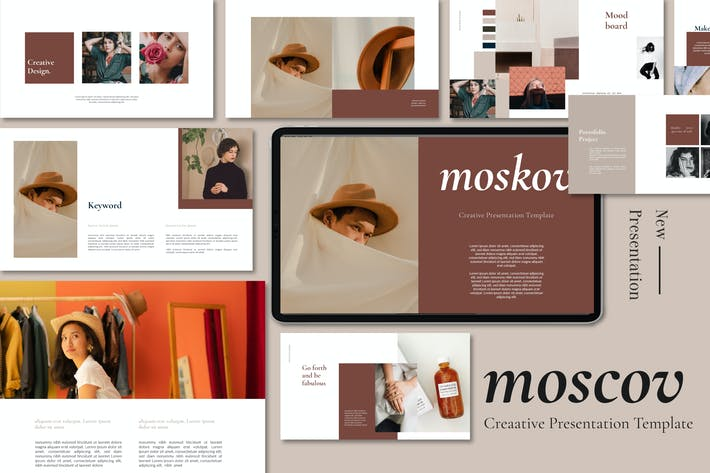 Thumbnail for Moscov Minimal & Simple Powerpoint Template