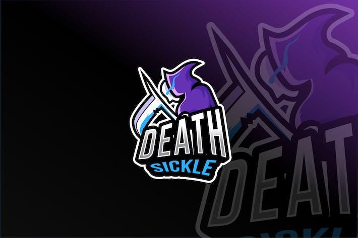 Thumbnail for Death Sickle Esport Logo Template
