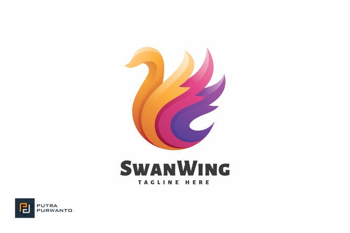 Thumbnail for Swan Wing - Logo Template