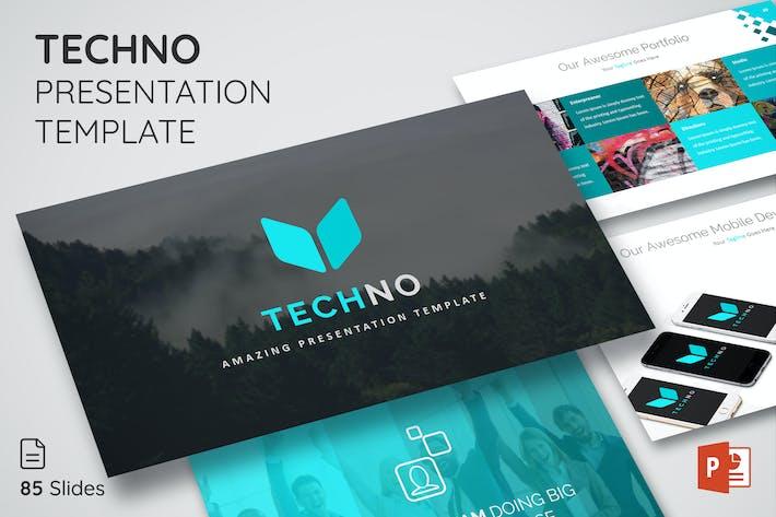 Thumbnail for Techno - Многоцелевой шаблон презентации