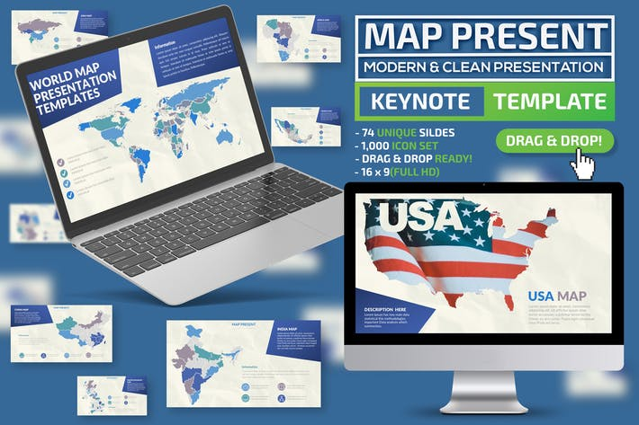 Thumbnail for Map Keynote Template