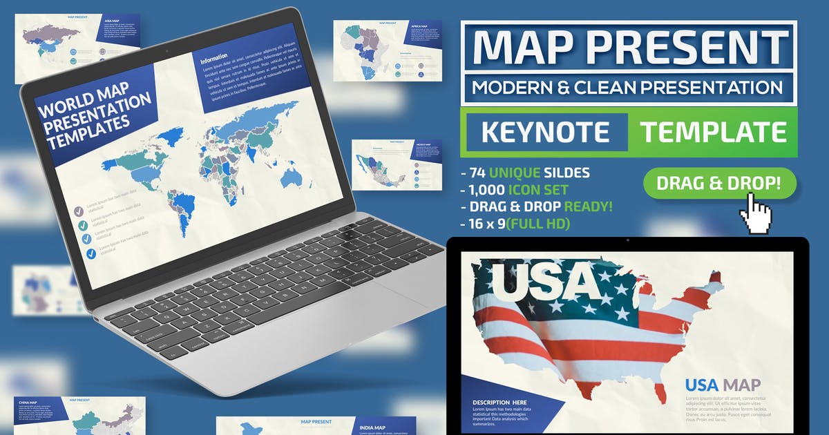 Download Map Keynote Template by mamanamsai