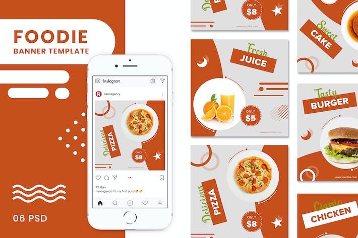 Thumbnail for Foody Баннеры Социальные медиа сообщения Шаблоны