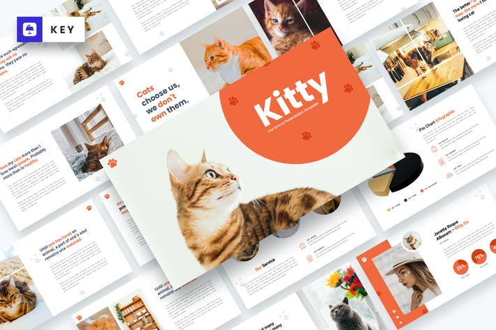 Thumbnail for Kitty - Cat Animal Keynote Template