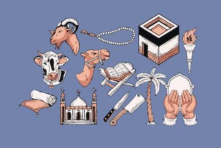 Eid Al Adha Illustration Set