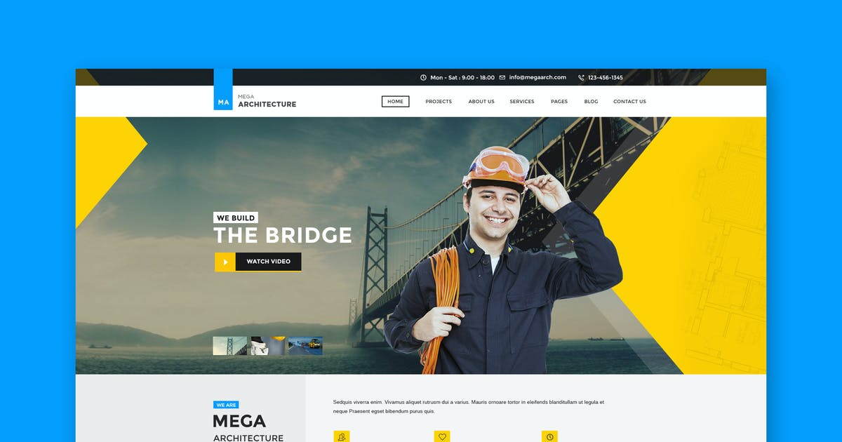 Download Mega Architecture: Construction, Building PSD by WPmines