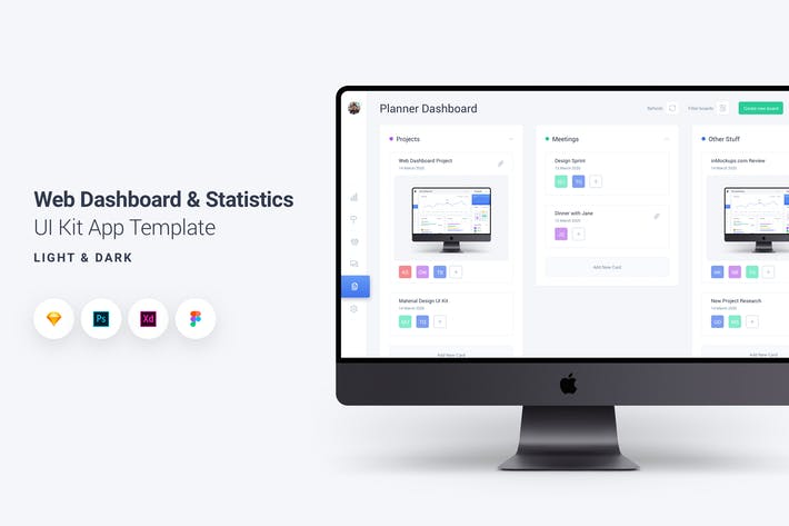 Thumbnail for Web Dashboard & Statistics UI Kit App Template 4