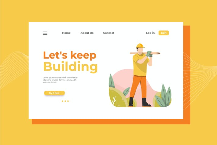 Thumbnail for Let's Keep Building Landing Page Illustration