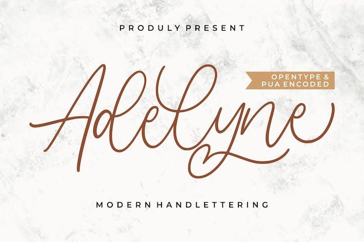 Adelyne — Современная надпись