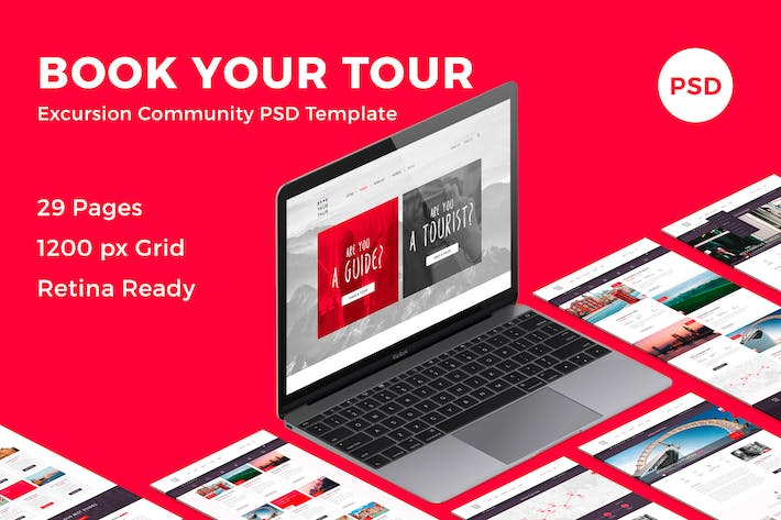 Thumbnail for Book Your Tour - Excursion Community PSD Template